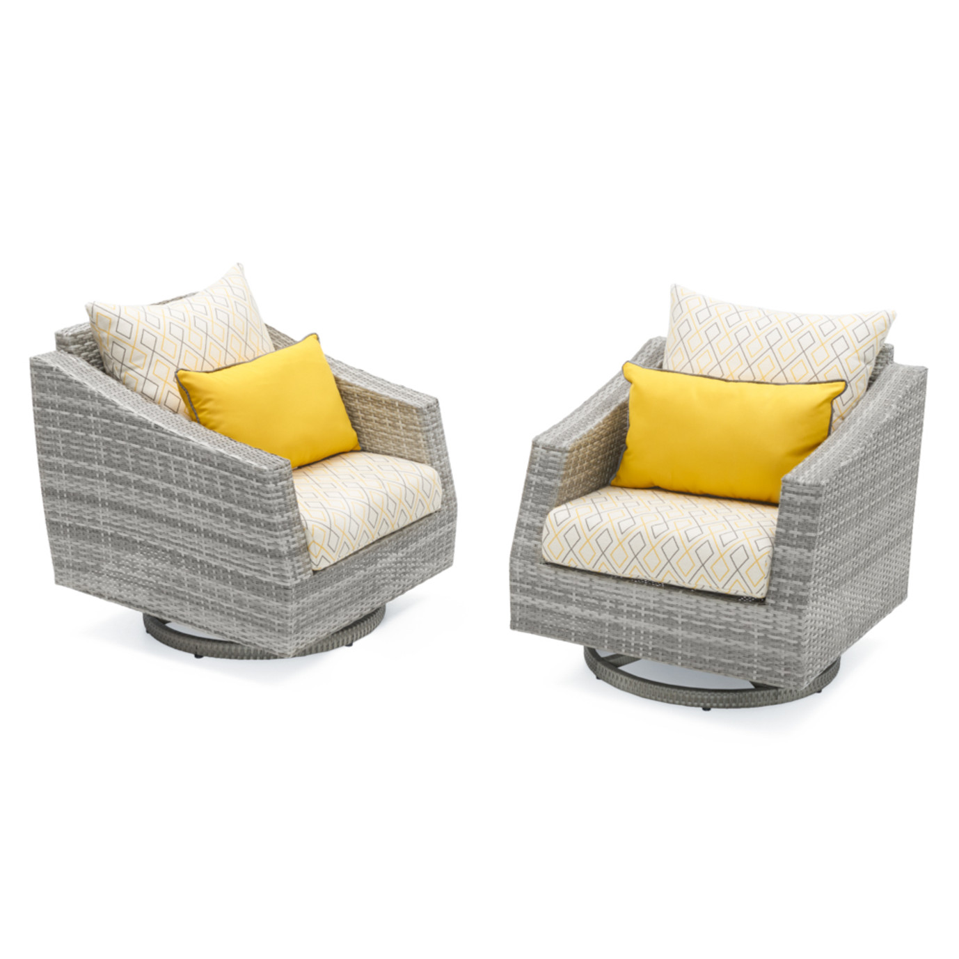 Cannes™ Deluxe Set of 2 Motion Club Chairs - Sunflower Yellow