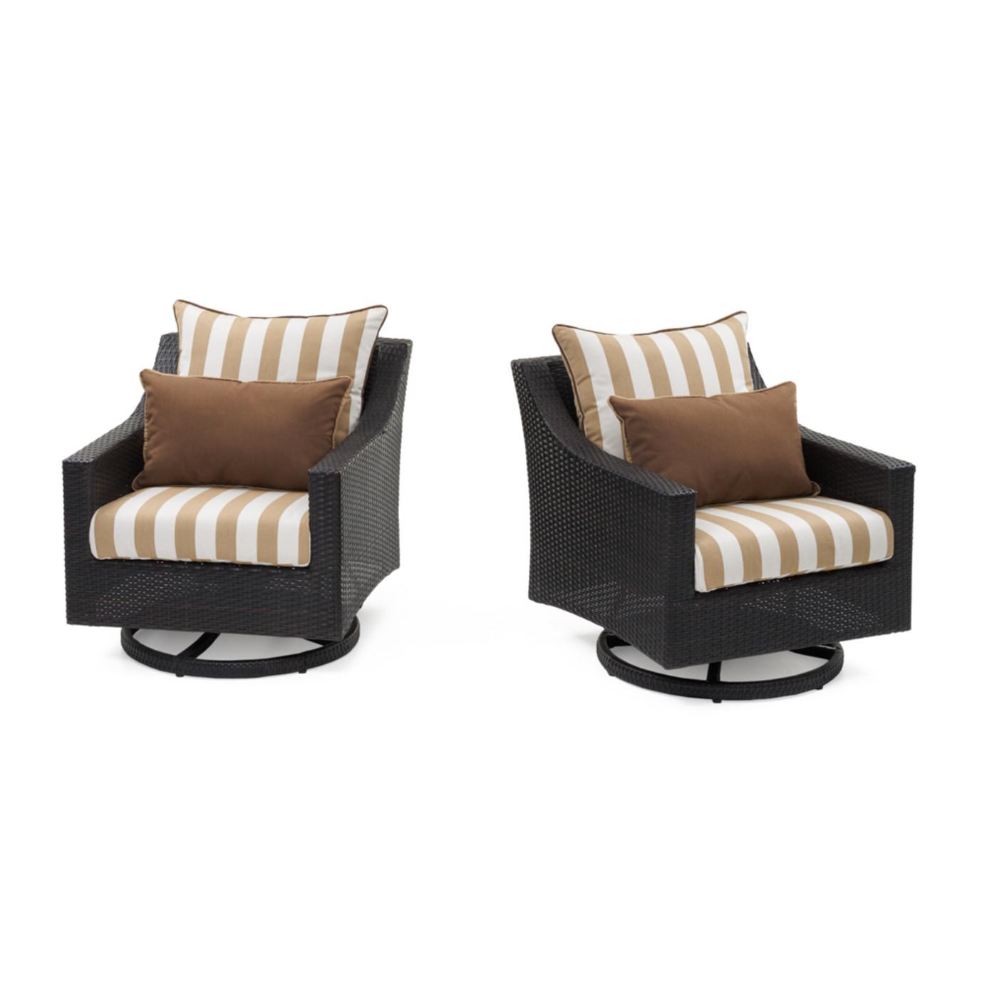 Deco™ Deluxe Motion Club Chairs - Maxim Beige Designer
