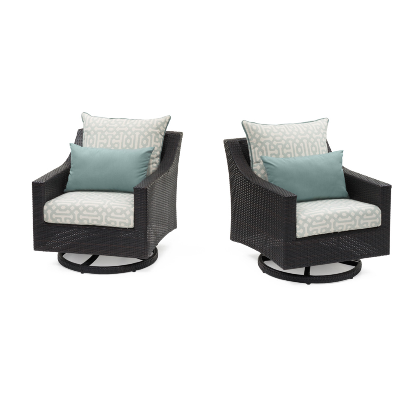 Deco™ Deluxe Set of 2 Motion Club Chairs - Spa Blue