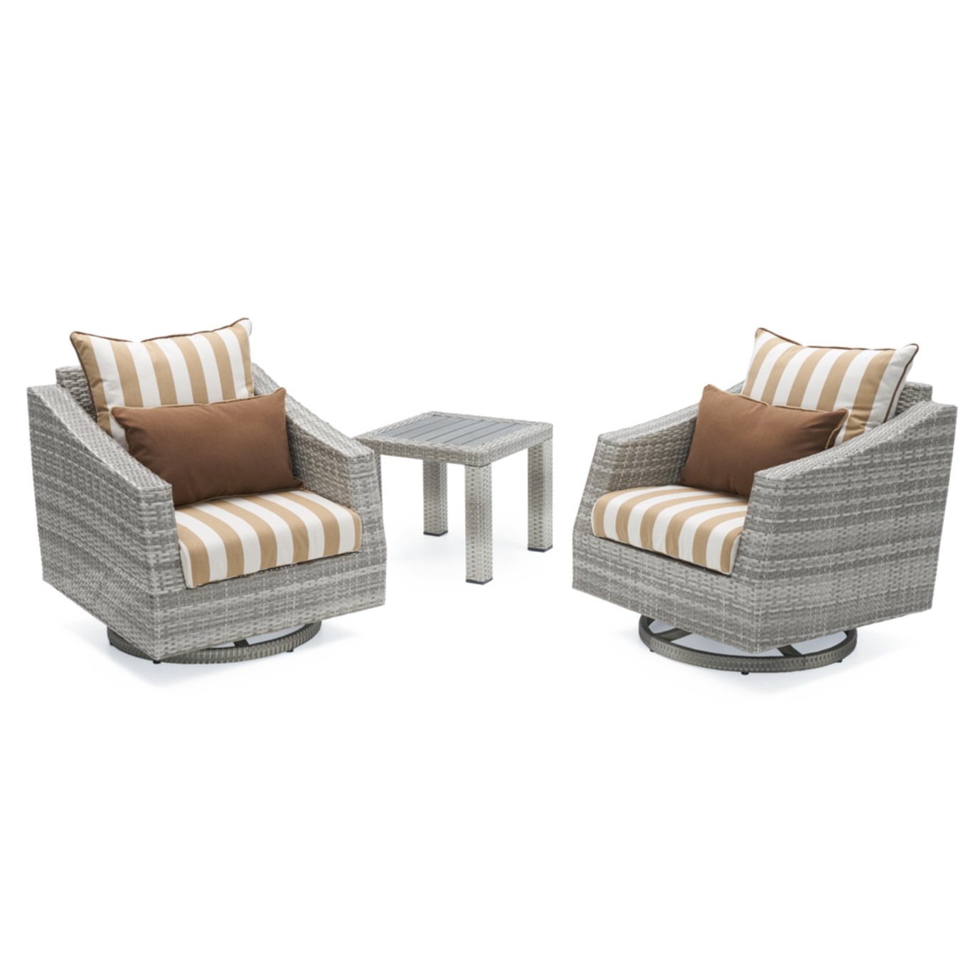 Cannes™ 2pc Deluxe Motion Club Chairs & Side Table - Maxim Beige