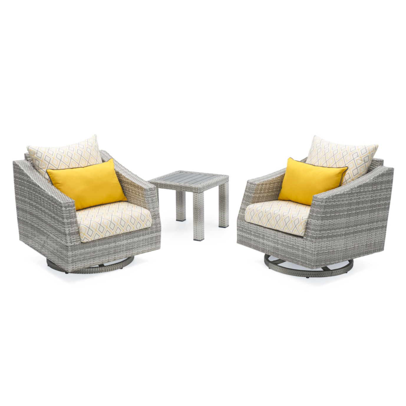 Cannes™ Deluxe Motion Club Chairs & Side Table - Sunflower Yellow