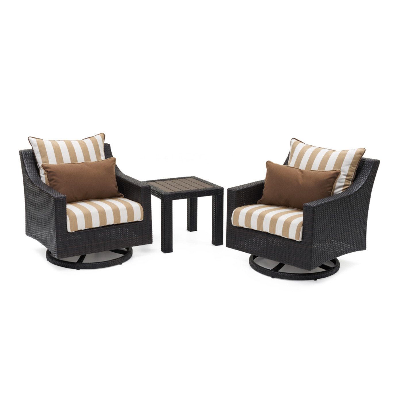 Deco™ Deluxe Motion Club Chairs & Side Table - Maxim Beige