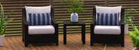 Deco™ Club Chairs and Side Table - Charcoal Gray