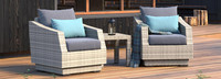 Cannes™ Club Chairs & Side Table - Blue