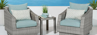Cannes™ Club Chairs and Side Table - Charcoal Gray
