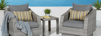 Cannes™ Club Chairs & Side Table - Centered Ink