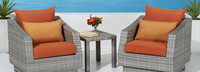 Cannes™ Club Chairs & Side Table - Cast Coral