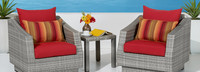 Cannes™ Club Chairs & Side Table - Gray