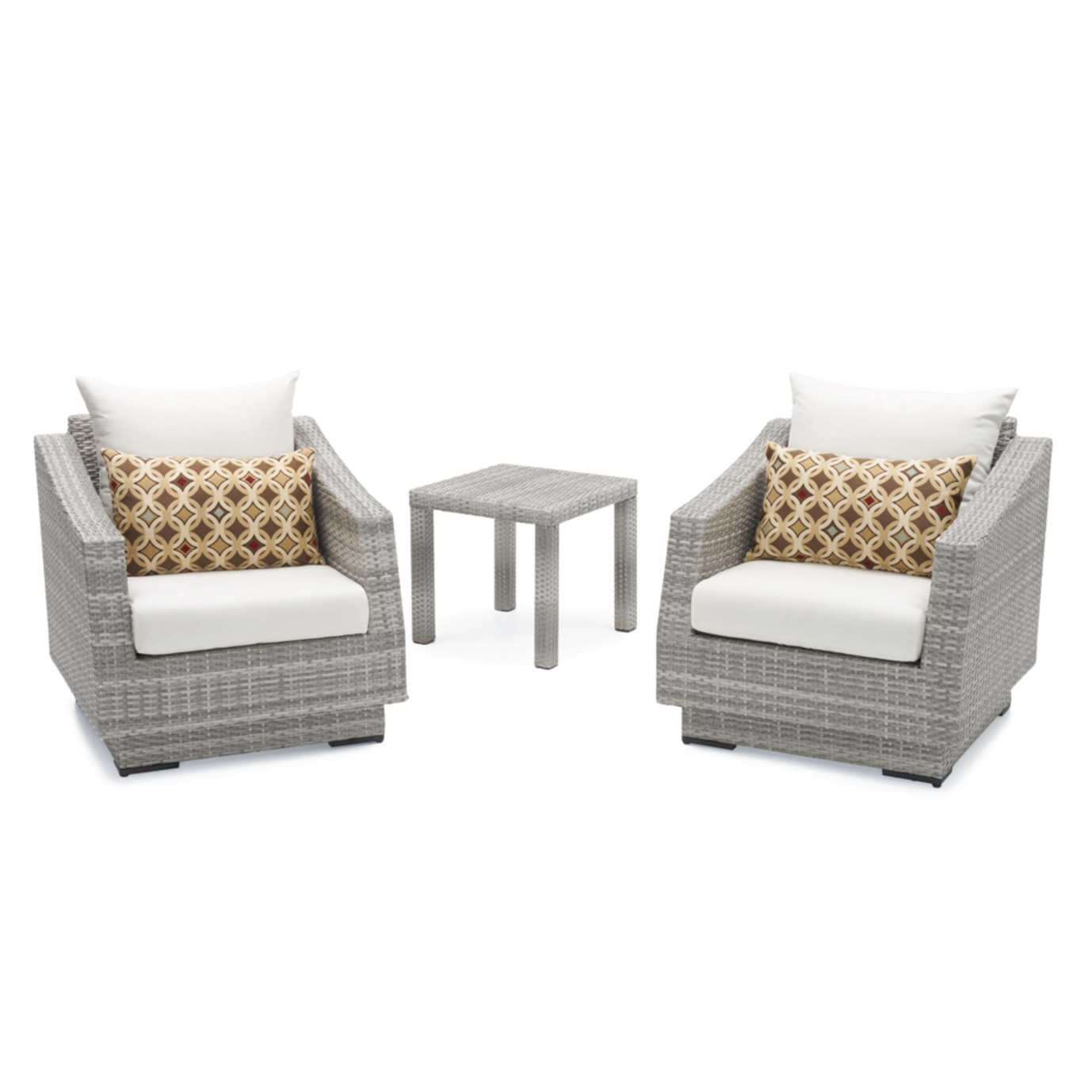 Cannes™ Club Chairs and Side Table - Moroccan Cream