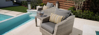 Cannes™ Club Chairs & Side Table - Spa Blue