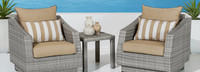 Cannes™ Club Chairs & Side Table - Sunset Red