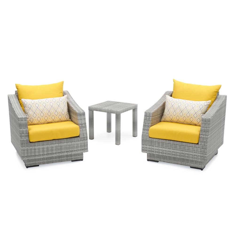 ... Cannes™ Club Chairs U0026 Side Table   Sunflower Yellow ...