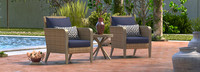 Grantina™ Club Chairs and Side Table - Charcoal Gray