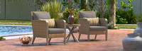 Grantina™ Club Chairs and Side Table - Centered Ink