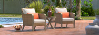 Grantina™ Club Chairs and Side Table - Cast Coral