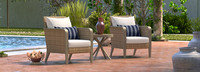 Grantina™ Club Chairs and Side Table - Navy Blue