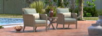 Grantina™ Club Chairs and Side Table - Spa Blue