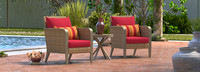 Grantina™ Club Chairs and Side Table - Sunset Red