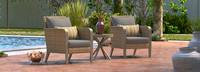 Grantina™ Club Chairs and Side Table - Tikka Orange