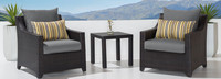 Deco™ Club Chairs and Side Table - Gray