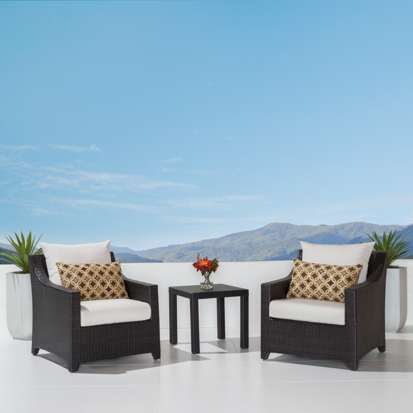 Deco™ Club Chairs and Side Table - Moroccan Cream