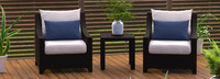Deco™ Club Chairs and Side Table - Maxim Beige