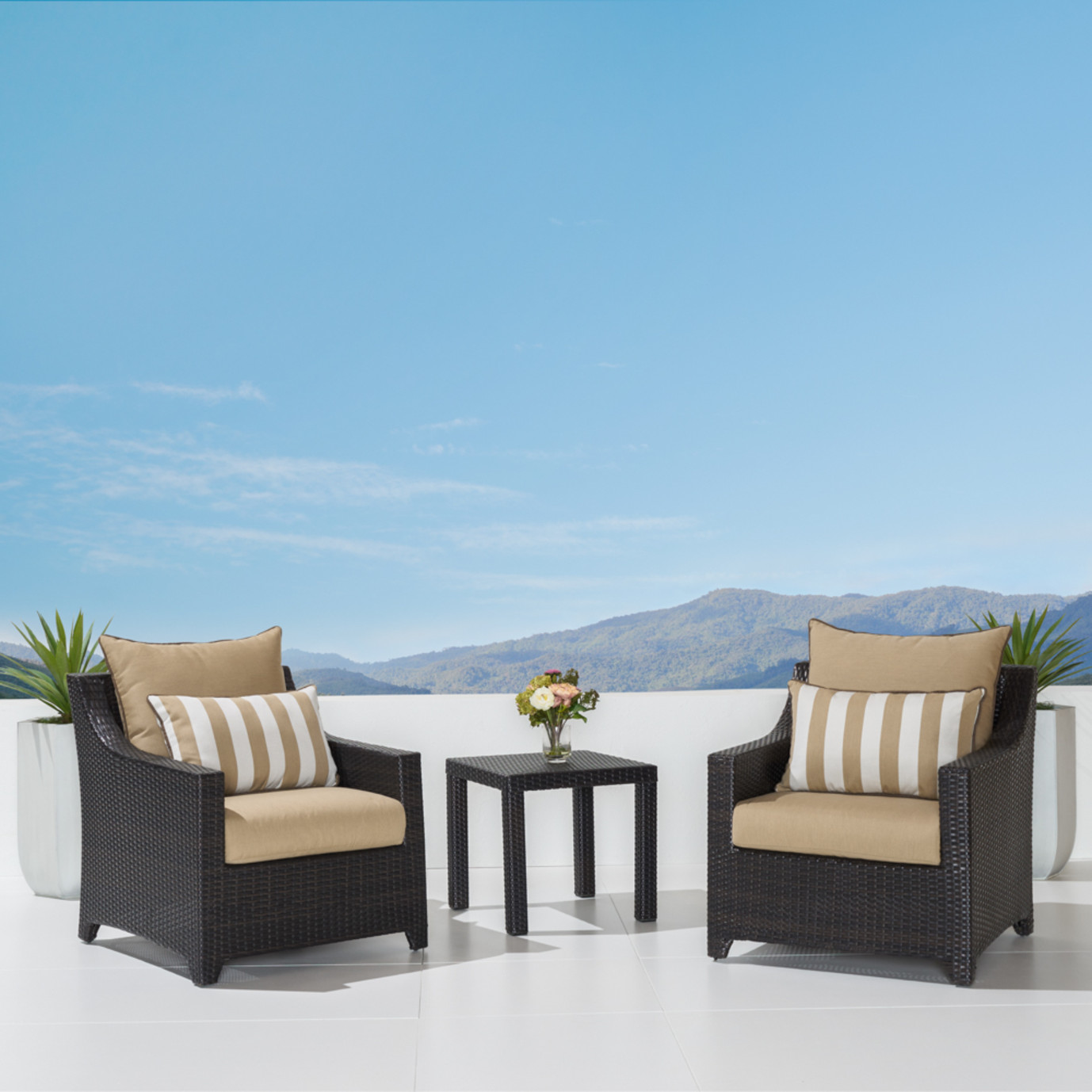 Deco Club Chairs And Side Table Maxim Beige Rst Brands