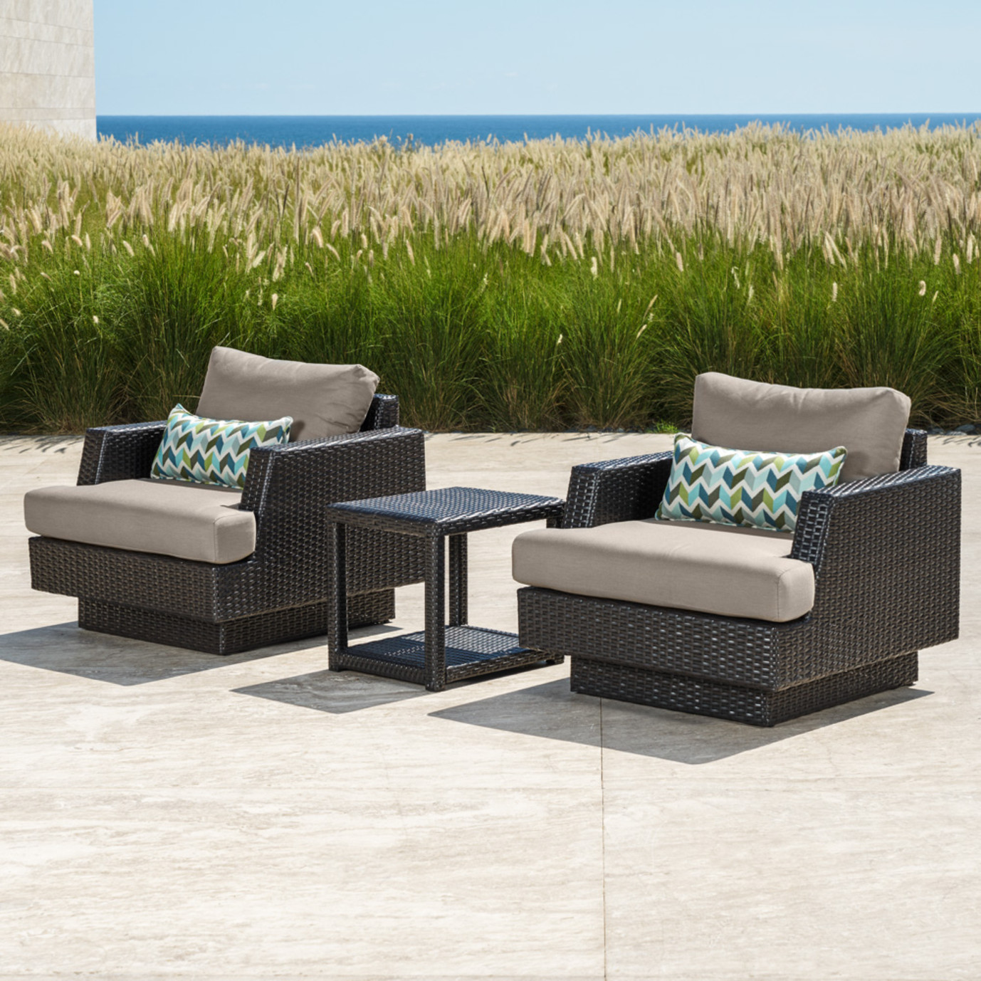 Portofino® Comfort Club Chairs with Side Table