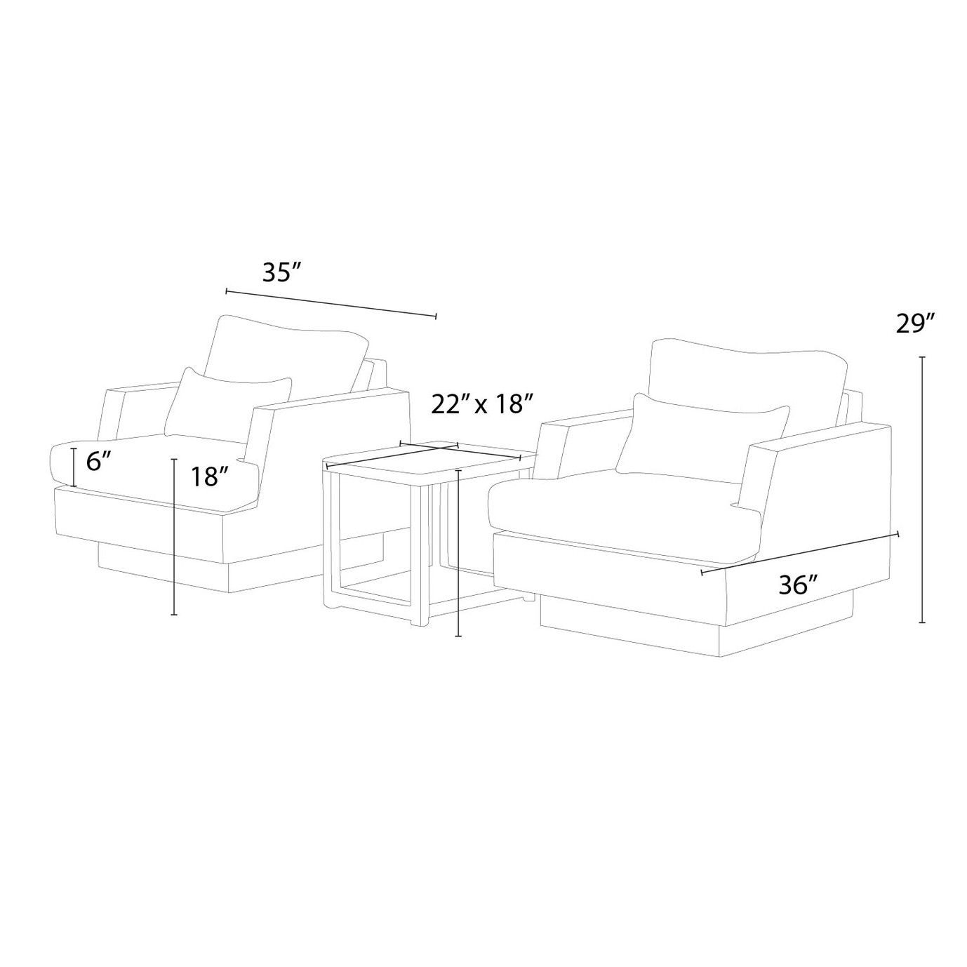 Portofino™ Comfort Club Chairs - Taupe Mist