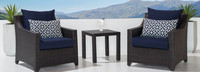 Deco™ Club Chairs and Side Table - Slate Gray