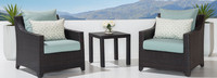 Deco™ Club Chairs and Side Table - Spa Blue