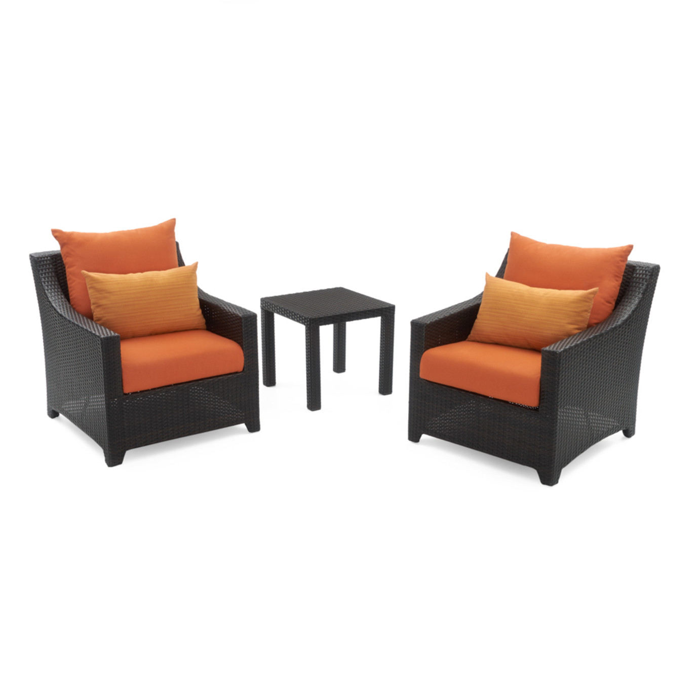 Deco™ Club Chairs and Side Table - Tikka Orange