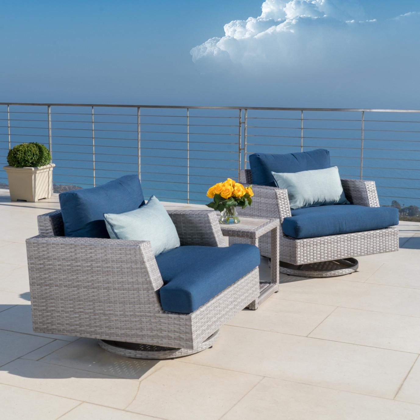 Portofino™ Comfort 3pc Motion Club Chair Set - Laguna Blue