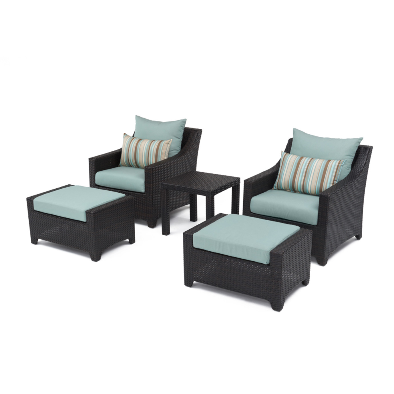 Deco™ 5pc Club Chair and Ottoman Set - Bliss Blue