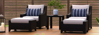 Deco™ 5 Piece Club Chair and Ottoman Set - Charcoal Gray