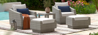 Cannes™ 5 Piece Club Chair & Ottoman Set - Bliss Ink