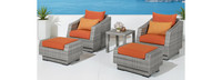 Cannes™ 5 Piece Club Chair and Ottoman Set - Ginkgo Green