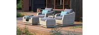 Cannes™ 5 Piece Club Chair & Ottoman Set - Gray