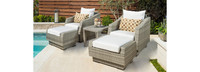 Cannes™ 5 Piece Club Chair and Ottoman Set - Moroccan Cream