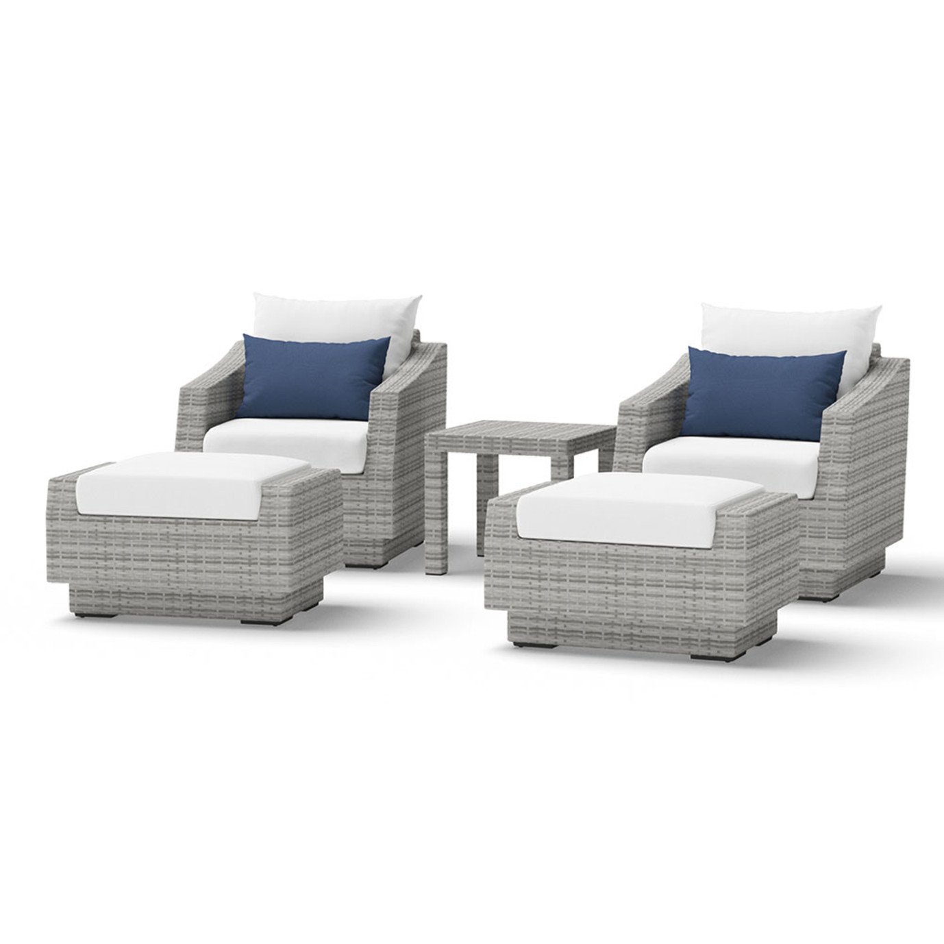 Cannes™ 5 Piece Club Chair and Ottoman Set