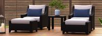 Deco™ 5 Piece Club Chair & Ottoman Set - Cast Coral