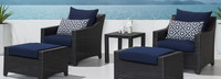 Deco™ 5 Piece Club Chair and Ottoman Set - Ginkgo Green