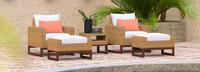 Mili™ 5 Piece Club Chair & Ottoman Set - Cast Coral