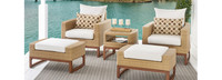 Mili™ 5 Piece Club Chair & Ottoman Set - Moroccan Cream