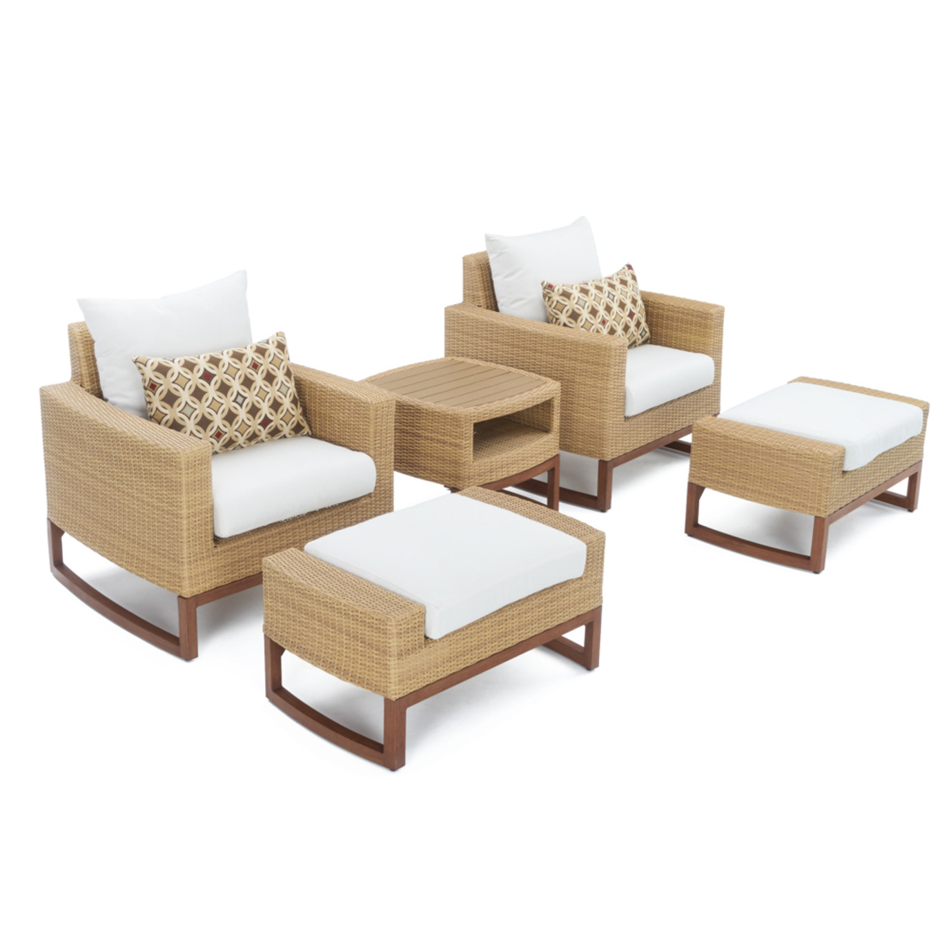 Mili™ 5pc Club Chair & Ottoman Set - Moroccan Cream