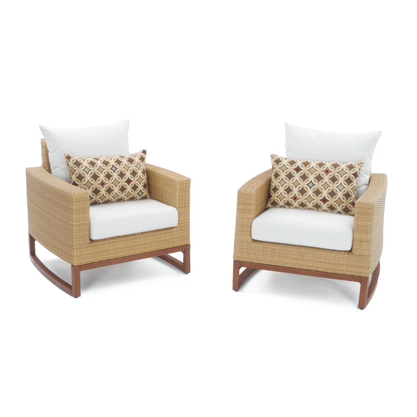 Mili™ 5pc Club Chair & Ottoman Set - Moroccan Cream