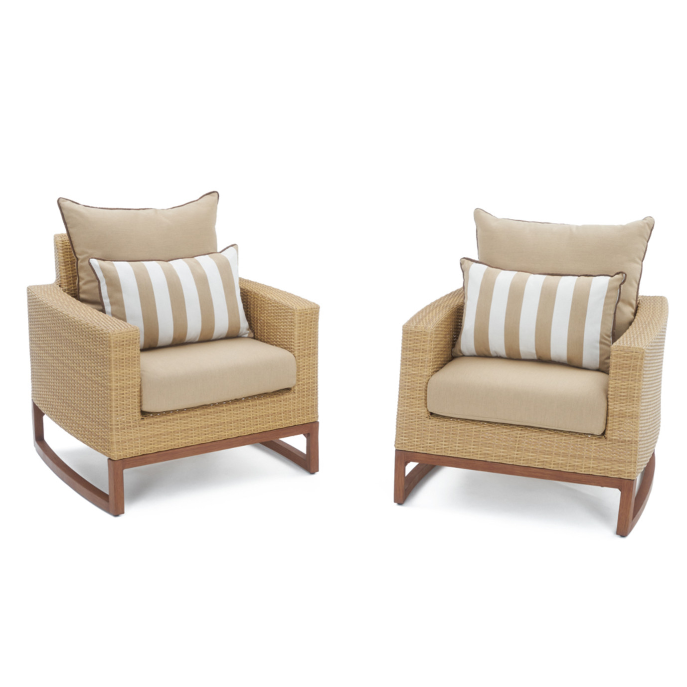 Mili™ 5 Piece Club Chair & Ottoman Set - Maxim Beige