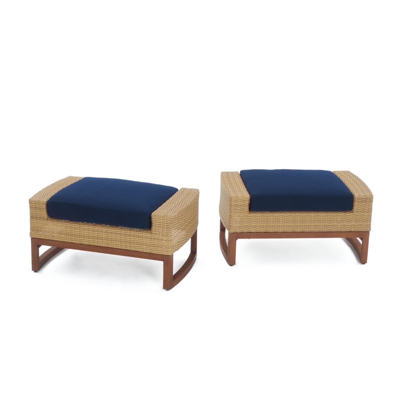 Mili™ 5pc Club Chair & Ottoman Set - Navy Blue