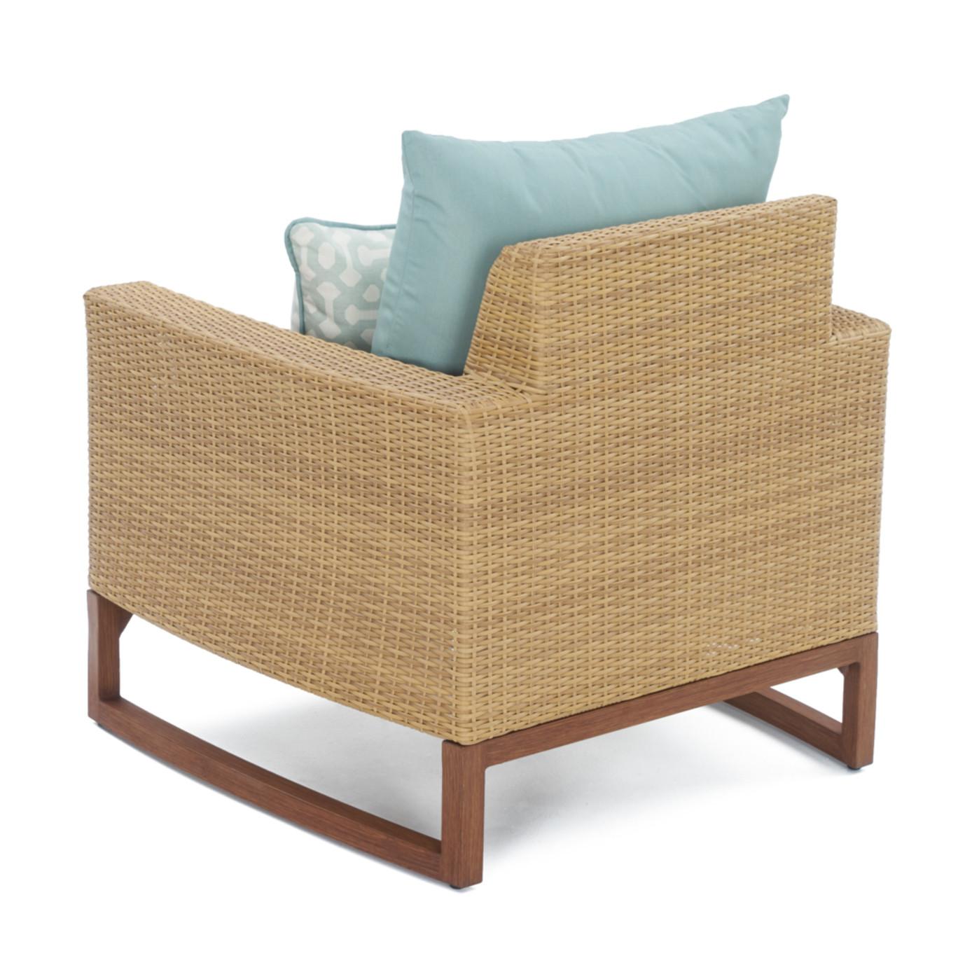 Mili™ 5 Piece Club Chair & Ottoman Set - Spa Blue