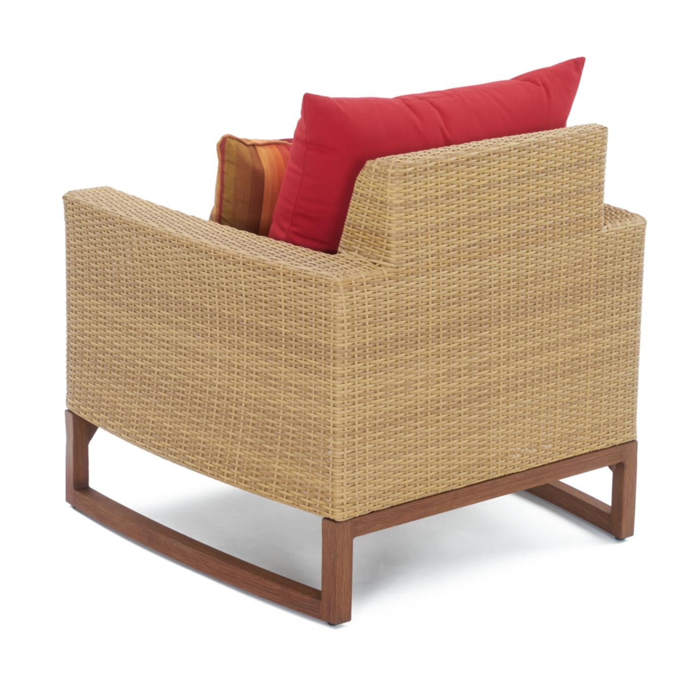 Mili™ 5pc Club Chair & Ottoman Set - Sunset Red
